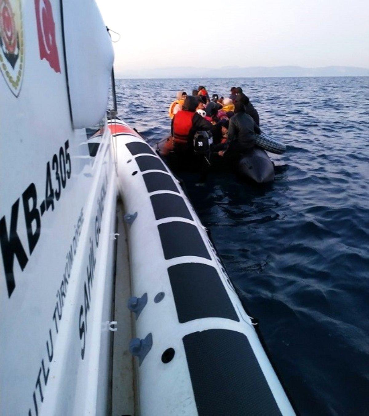 Ayvalık ta 40 düzensiz göçmen yakalandı