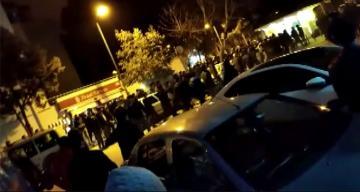Galatasaray – Fenerbahçe taraftarları birbirine girdi