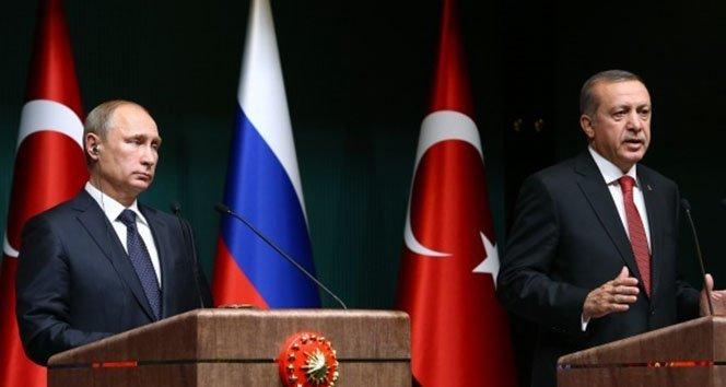 Hain saldırı sonrası Cumhurbaşkanı Erdoğan ile Putin telefonda rejimin saldırısını görüştü