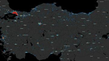 Türkiye'nin konum bazlı koronavirüs haritası Objektif Haber'de
