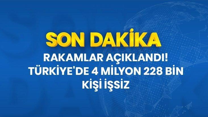 Türkiye'deki işsiz sayısı 4 milyon 228 bin oldu