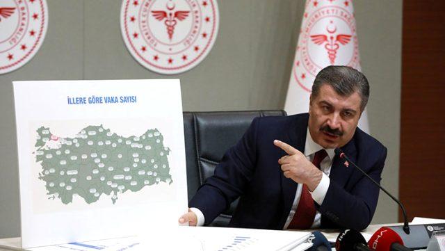"""İşte Bakan Koca'nın """"Vakalarda kısmi artış var"""" dediği 3 bölgenin koronavirüs yoğunluk haritası"""