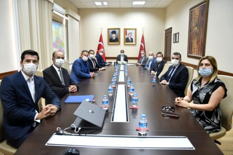 Marmara OSB Yönetim Kurulu , Balıkesir Valisi Hasan ŞILDAK ı ziyaret etti