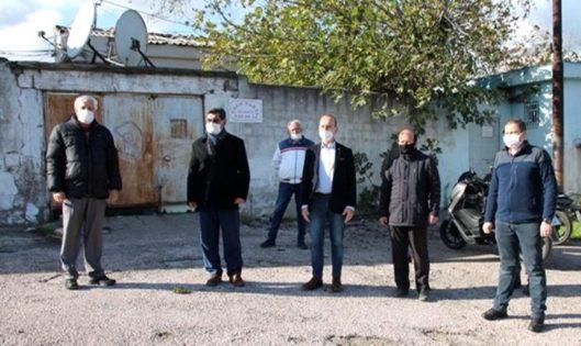 CHP den genelev önünde basın açıklaması