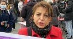 Paris'te kadınlardan aile içi şiddete karşı protesto