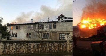 Sobadan çıkan yangın evi küle çevirdi