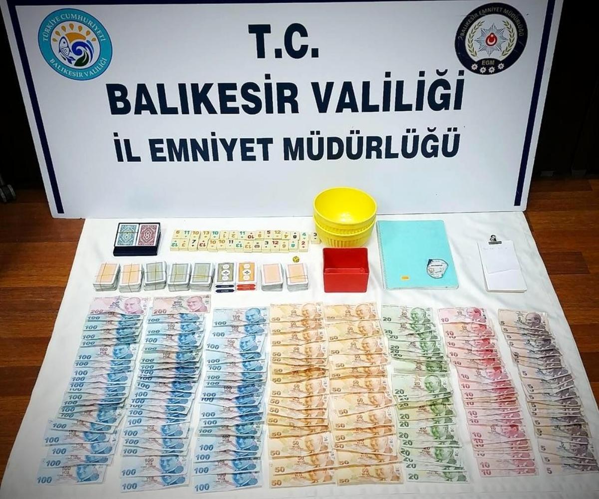 Balıkesir de derneğe kumar operasyonu: 21 kişiye toplam 51 bin lira ceza uygulandı