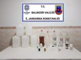 Bandırma'da kaçak içki operasyonu
