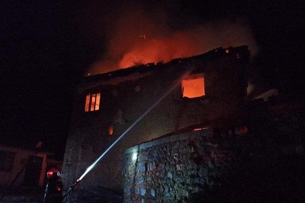 Köy evi kül oldu