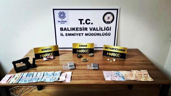 Balıkesir de son 1 haftada 77 şüpheli şahsa narkotik operasyonu