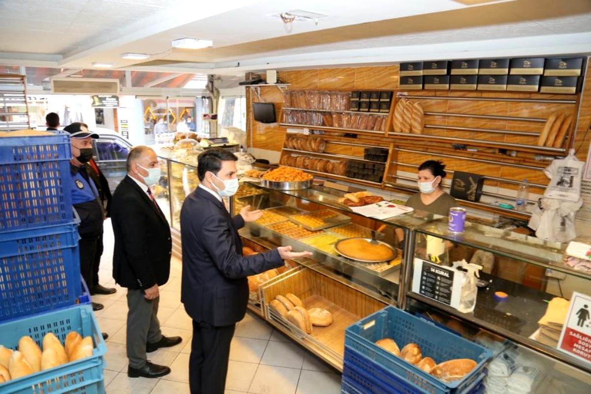 Son dakika haberi   Kaymakam Ünsal fırın ve marketleri denetledi