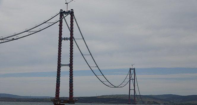 1915 Çanakkale Köprüsü'nün ana halat kablo montajı tamamlandı