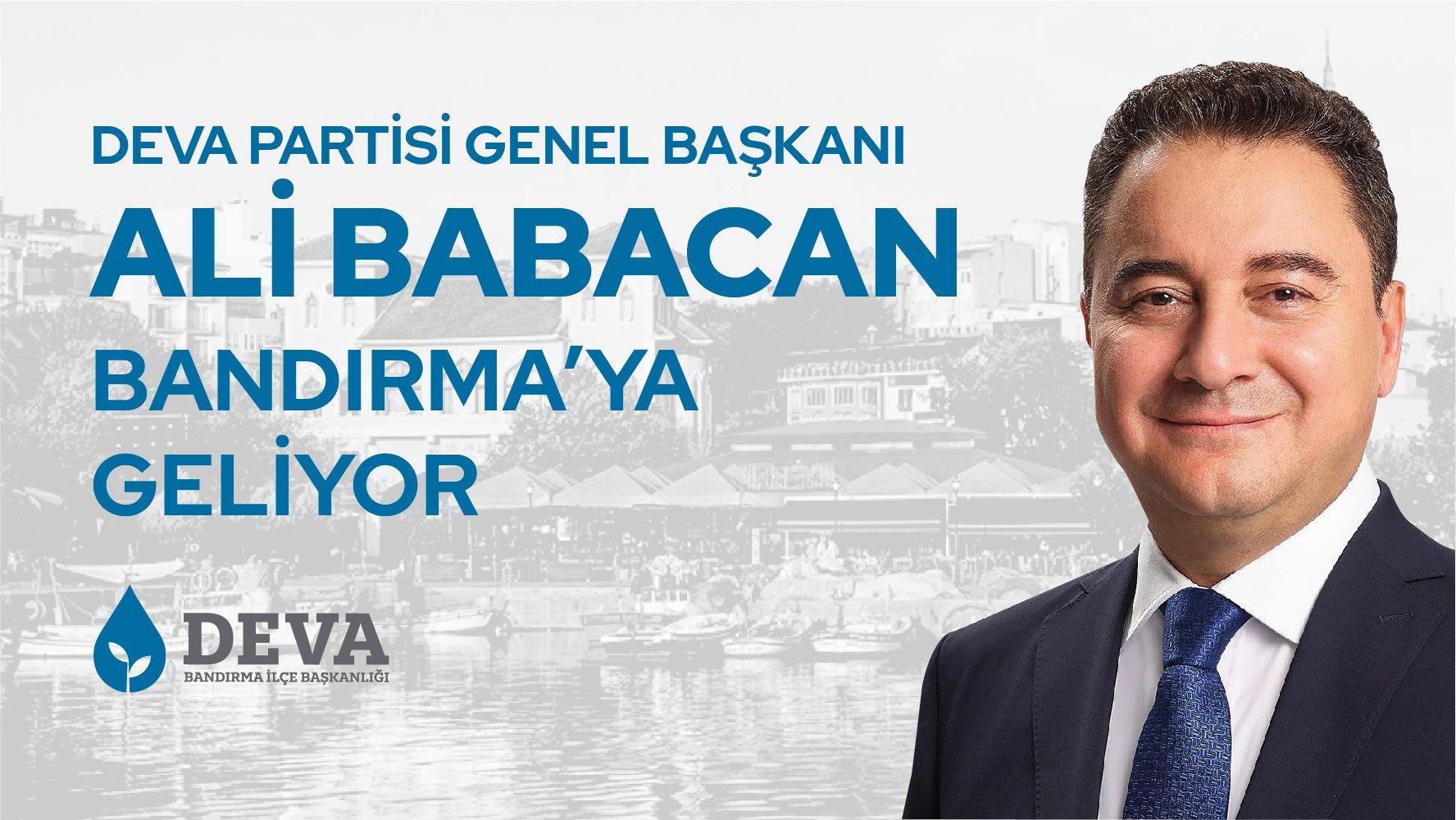 Ali Babacan Bandırma'ya Geliyor