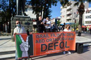 Ayvalık ta Demokrasi Platformundan İsrail e sert tepki