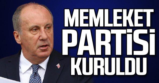 Memleket Partisi kuruldu