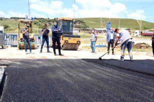 Atatürk Bulvarı asfaltlanıyor