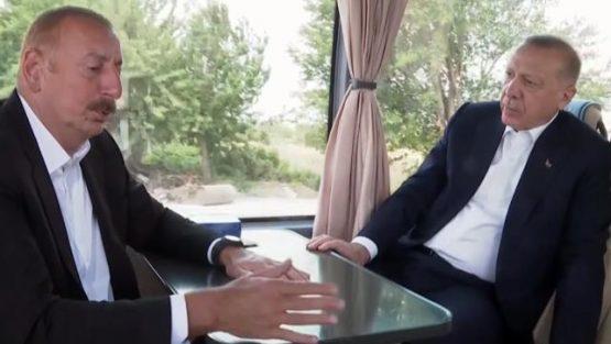 Erdoğan'la Aliyev arasında ilginç diyalog